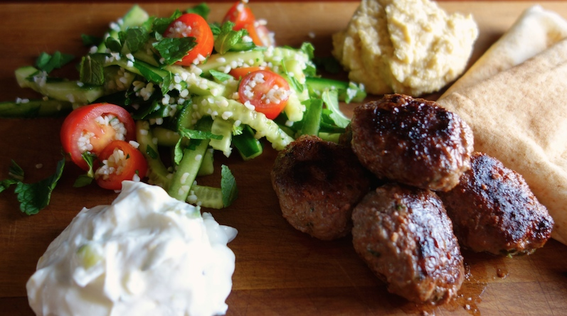 Lamb Kofta and Tabouli Salad – an illustrated recipe