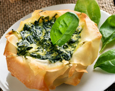 Spinach & Ricotta Fillo Pies – Illustrated Recipe