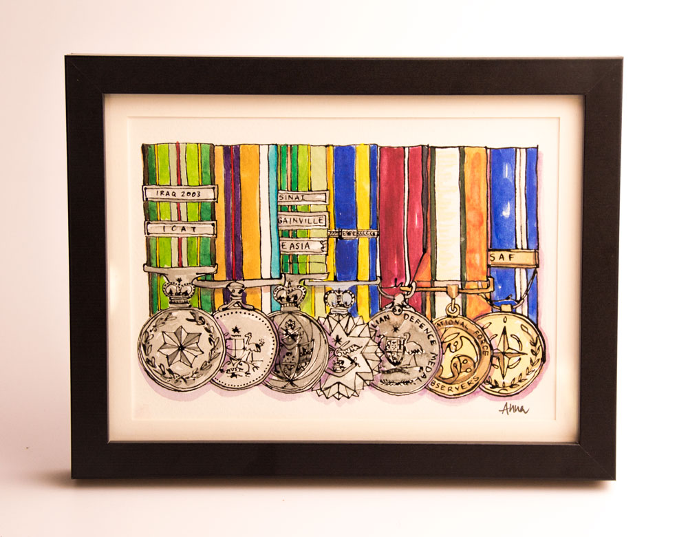 David-Bartlett's-Medals-Framed