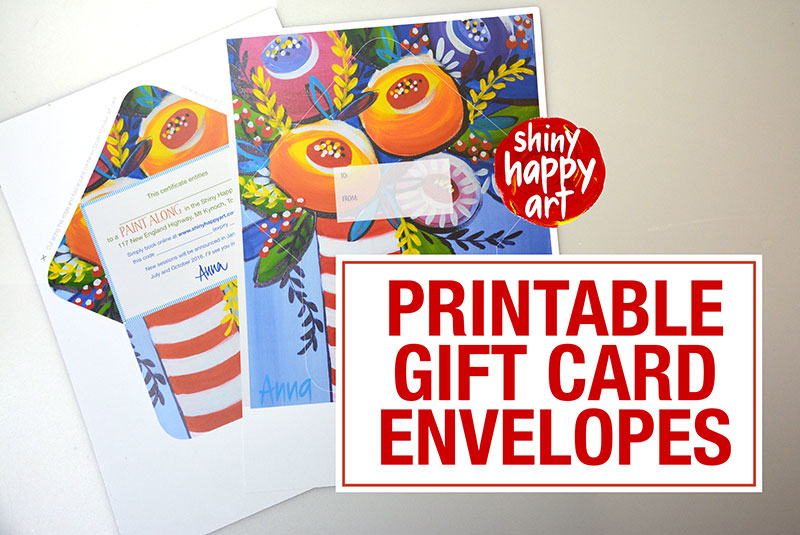 Printable Gift Cards for you