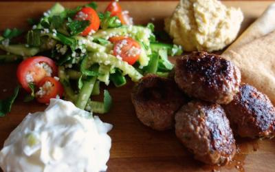 Lamb Kofta and Tabouli Salad – an illustrated recipe