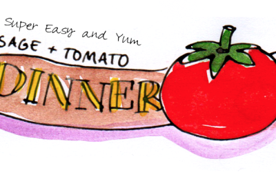 Super Easy Sausage and Tomato Dinner – Illustrated Recipe