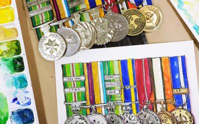 Custom Medal Painting