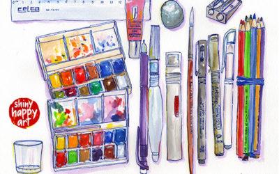 Art Supplies for Travel