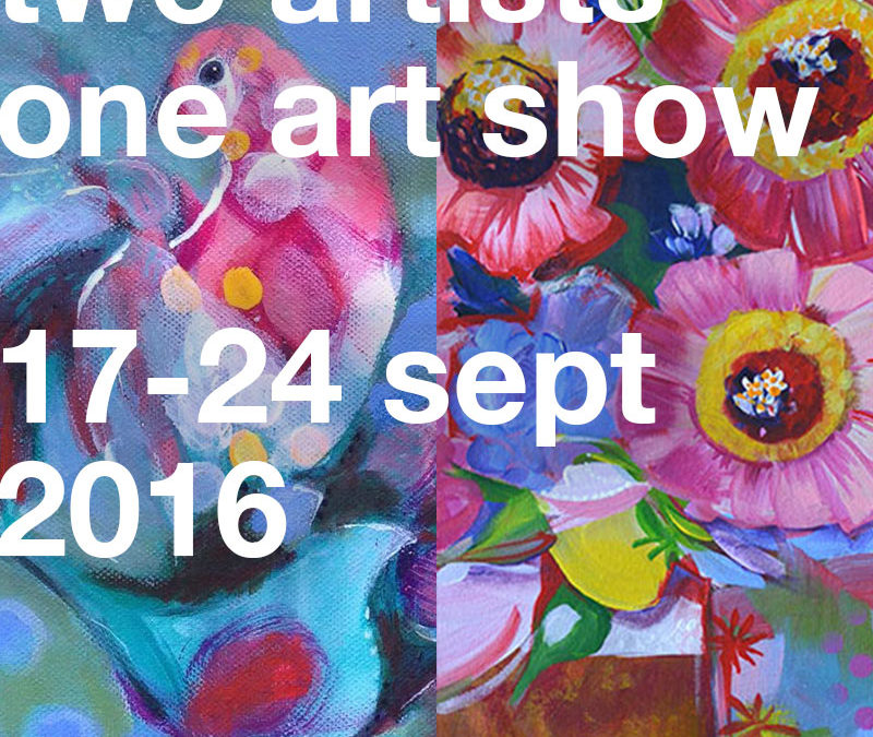 I'm having an art show with my mum next week!