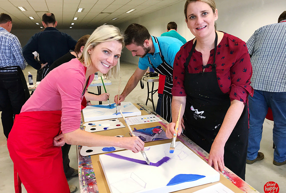 Multi-canvas Painting as Team Building Event