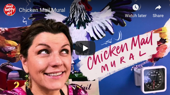 The entire Chook mural in 2 minutes!